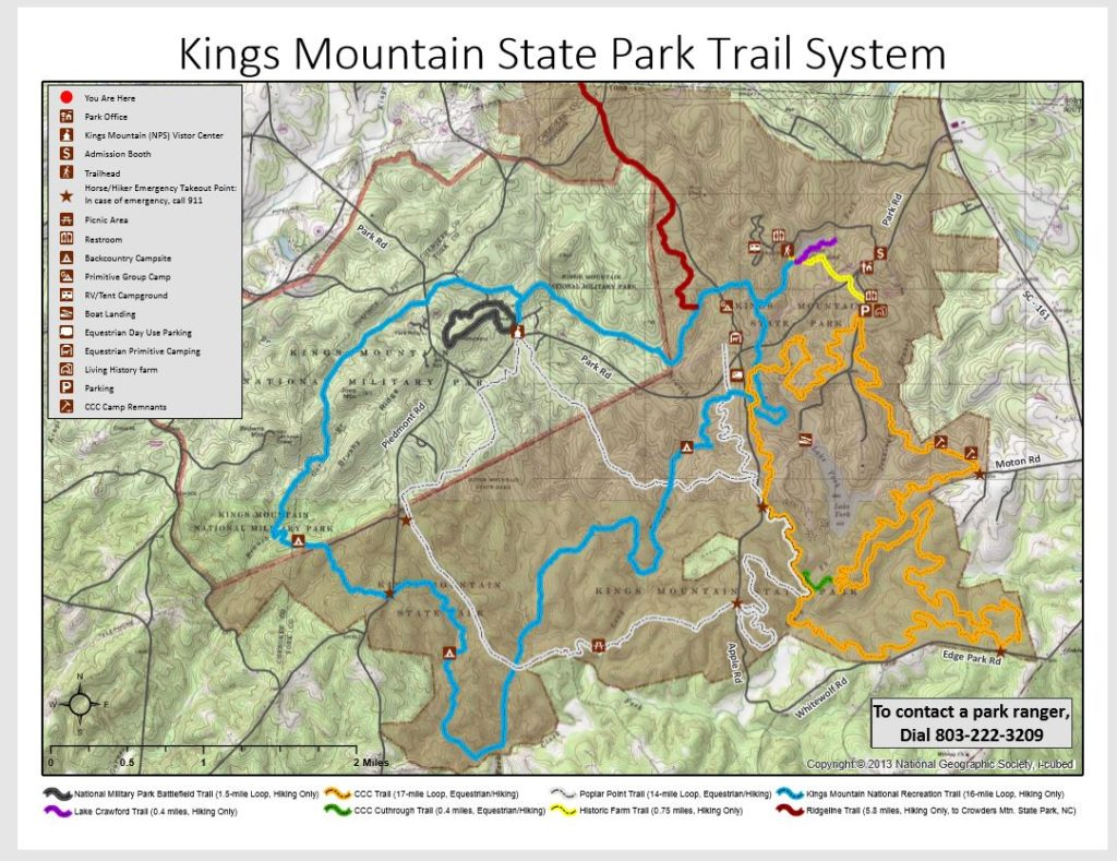 State Park Nc Map.Maps Of Trails Friends Of Kings Mountain State Park